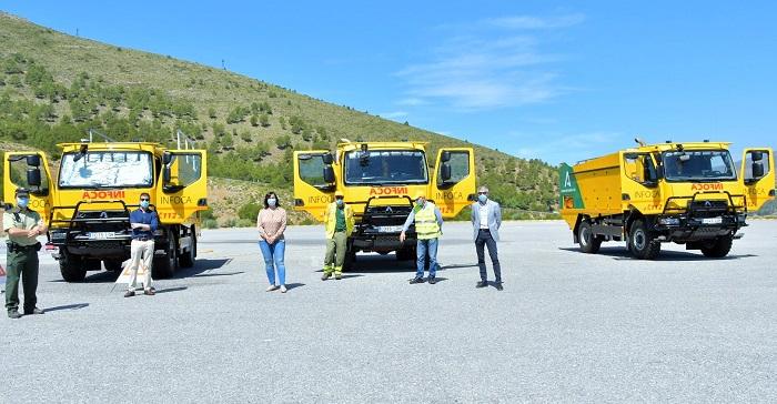 La Junta dota con tres nuevos vehículos autobomba al operativo INFOCA en la provincia de Granada