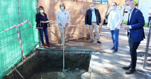 Las primeras catas arqueológicas en la plaza de La Tenería sacan a la luz vestigios históricos del viejo Motril