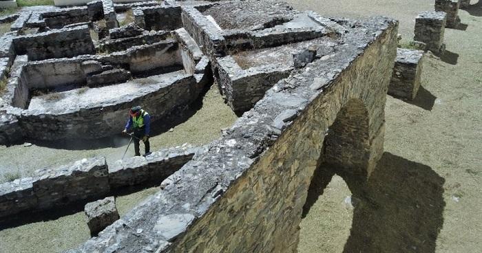 Limpieza termas y acueducto romano La Carrera Almuñécar