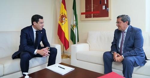 Moreno subraya la cooperación con diputaciones y ayuntamientos durante la crisis por el Covid-19