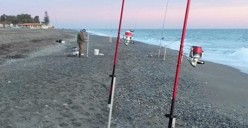 Pesca deportiva playa de Motril