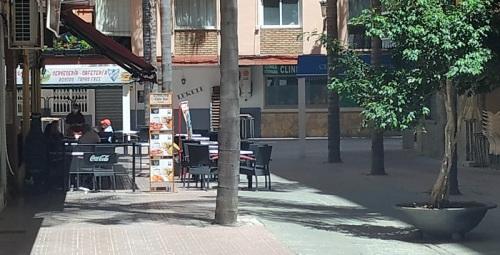 Terraza en la calle Bilbao de Almuñécar